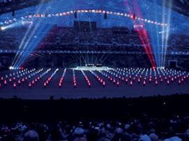 Hình 8, 9 Chiếu sáng sân vận động Olimpic mùa đông Sochi.